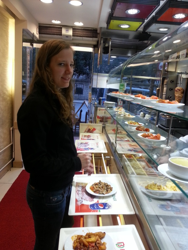 Brianna's first meal in Istanbul.